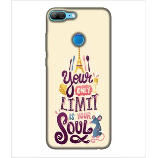 For Huawei Honor 9 Lite your only limit is your soul, good quotes, yellow background Designer Printed High Quality Smooth Matte Protective Mobile Case Back Pouch Cover by Human Enterprises