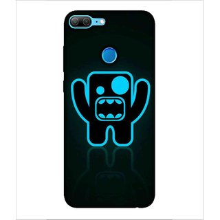 For Huawei Honor 9 Lite blue cartoon, roar cartoon, black background Designer Printed High Quality Smooth Matte Protective Mobile Case Back Pouch Cover by Human Enterprises
