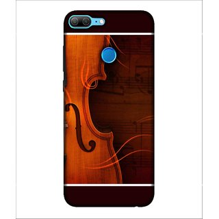 For Huawei Honor 9 Lite brown guitar, guitar, brown wood board background Designer Printed High Quality Smooth Matte Protective Mobile Case Back Pouch Cover by Human Enterprises