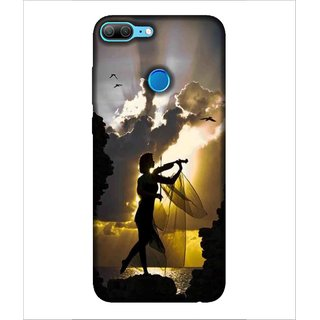 For Huawei Honor 9 Lite girl with guitar, girl play guitar, cloud, bird Designer Printed High Quality Smooth Matte Protective Mobile Case Back Pouch Cover by Human Enterprises