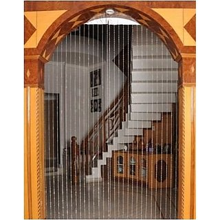 Discount4product 20 String Door Window Curtain Divider Separator Decoration Plastic Strings Bead Hanging Curtain (Golden