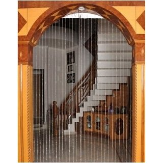 Discount4product 20 String 7 feet Door Window Curtain Divider Separator Decoration Plastic Strings Bead Hanging Curtain