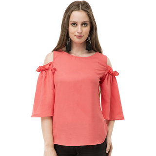 8c0efbe5bb06a Buy Cold Shoulder Top with Bat wing Sleeves Online - Get 25% Off