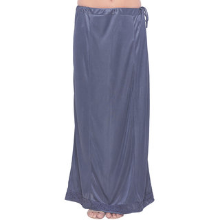 Meia Womens Grey Colored Lycra Petticoat