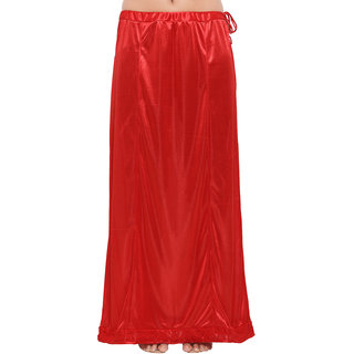 Swaron Women's Red Colored Lycra Petticoat