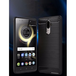 For Lenovo K8 Plus/ K8+ Rugged Armor Brushed (Hybrid Black) Back Cover
