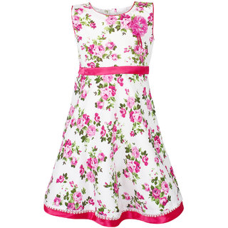 12e0b867b Buy Meia for girls Pink floral print Cotton frock Online - Get 72% Off