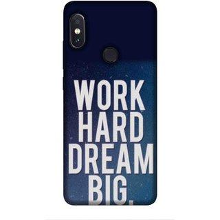 Buy For Redmi Note 5 Pro Work Hard Dream Big Blue Wallpaper Good