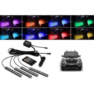 Buy Trigcars Made Especially For Mahindra Scorpio Car 4x 12led Rgb