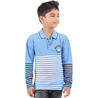 3d6ec2859fd Buy BodyGlove Boy Kids Casual Polo Neck Collar Striped T-Shirt