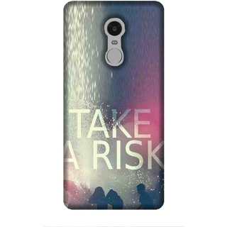 For Redmi Note 5 take a risk, good quotes, many man, risk, blur Designer Printed High Quality Smooth Matte Protective Mobile Case Back Pouch Cover by Human Enterprises