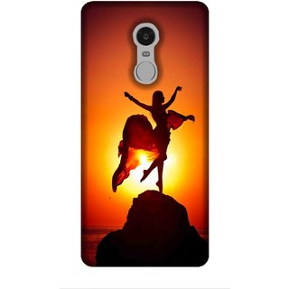 For Redmi Note 5 girl on mountain, mountain, sunset, girl Designer Printed High Quality Smooth Matte Protective Mobile Case Back Pouch Cover by Human Enterprises