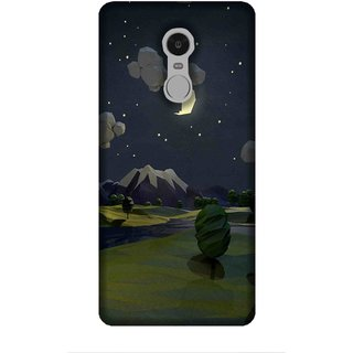 For Redmi Note 5 vector, illustartor, place, mountain, tree, moon Designer Printed High Quality Smooth Matte Protective Mobile Case Back Pouch Cover by Human Enterprises