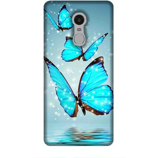 For Redmi Note 5 beautiful butterfly, butterfly, abstact background Designer Printed High Quality Smooth Matte Protective Mobile Case Back Pouch Cover by Human Enterprises