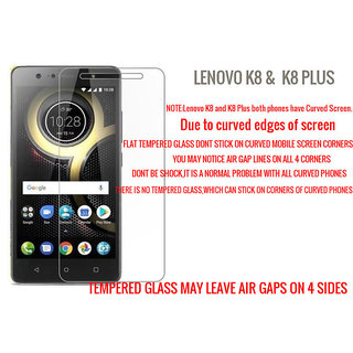 Lenovo K8/K8 PLUS 5.2 inches Tempered Glass (Screen Protector Guard)