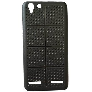 Soft Back Case Cover For Lenovo Vibe K5 Plus / K5+  (Black BOX Dotted)
