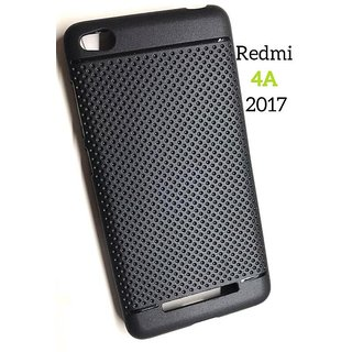 Black DOTTED Sober Look Soft Silicon Back Cover Case For Redmi 4A