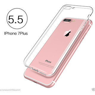 iPhone 7 Plus / iPhone 7+ High Quality TRANSPARENT TPU SOFT SILICON BACK COVER CASE
