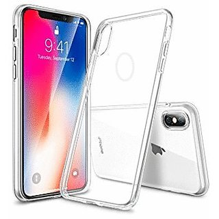 pretty nice a32f6 6bc9a IPHONE X TRANSPARENT Back Cover LOGO CUT SOFT SILICON CASE COVER IPHONE 10