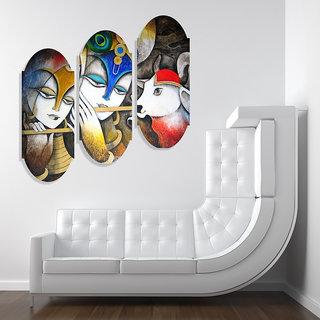 Wall Sticker Shri Krishna & Radha Design (Cover Area :- 21 X 21 inch)