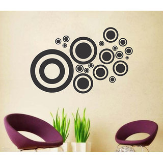 Wall Sticker Abstract Design (Cover Area :- 20 X 13 inch)