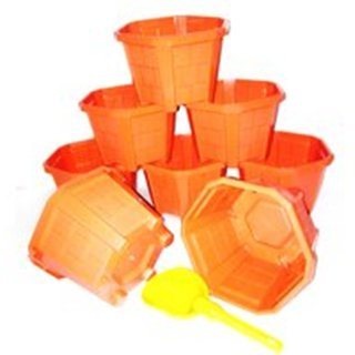 Hexa Planter - (Set of 8) With mug pan
