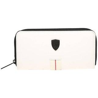Puma White Canvas Clutch Wallet For Women's