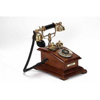 Antique wooden telephone showpiece