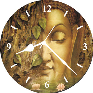 3d lord buddha wall clock