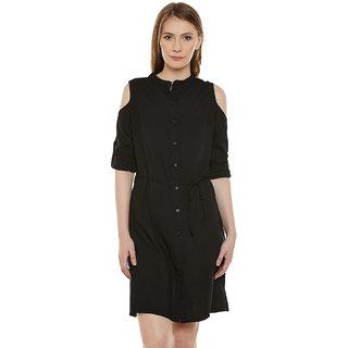 Bohobi Womens Shirt Black Dress
