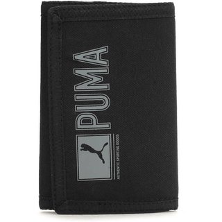 Puma Men Black Canvas Wallet (2 Card Slots)