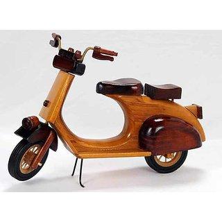 Wooden Scooter Showpiece