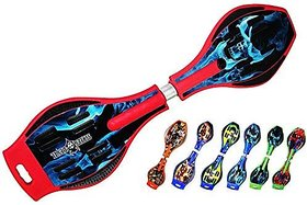 RED SkeltonClass A Wave board with Mirror surface wheel flash Militry bag