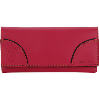 STYLER KING Magenta Faux Leather Wallet for Women
