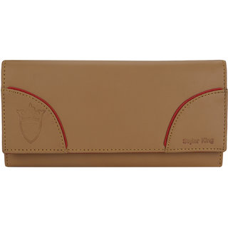 STYLER KING Brown Faux Leather Wallet for Women