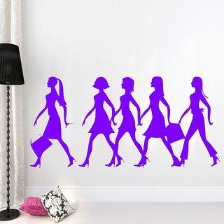 Wall Sticker Faishon Girls Design (Cover Area :- 35 X 17 inch)