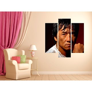 Wall Sticker Jackie Chan Design (Cover Area :- 24 X 24 inch)