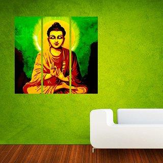 Wall Sticker Lord Buddha Design (Cover Area :- 24 X 26 inch)