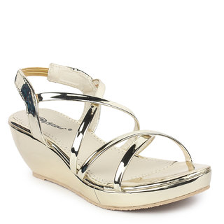 Digni Women's Gold Wedges