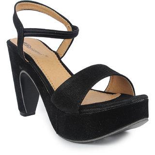 bbecaa8cc5d2 Buy Digni Women s Black Sandals Online - Get 1% Off