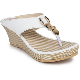 Digni Women's White Wedges