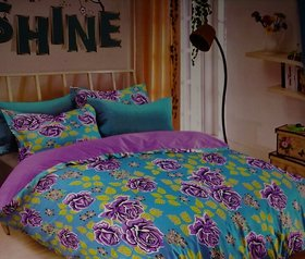 shine double bedsheet with 2 pillows