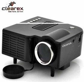 Clearex E08 Mini Home Theater USB/VGA/HD/ATV/TF-Card LED/LCD Corded Portable Projector