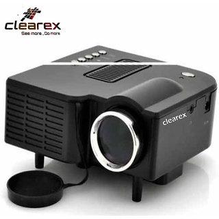 Clearex E08 Mini Home Theater USB/VGA/HD/ATV/TF-card LED Projector LCD Projetor 50 lm LED Corded Portable Projector