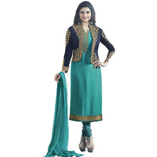 Buy Salwar Soul Womens Latest Designer Green Embroidered Work Casual