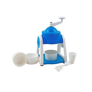 Famous Ice Snow Maker With 3-Icebowls 1-Glass 6-Sticks 1-Ice Snow Dish (Blue)