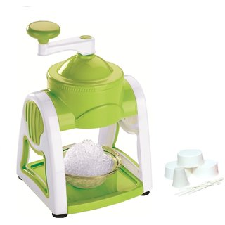 Famous Ice Snow Maker With 3-Icebowls 1-Glass 6-Sticks 1-Ice Snow Dish (Green)
