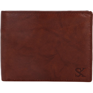 STYLER KING Tan Genuine Leather Wallet for Men