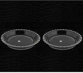 Unboxed Borosil glass Dish small plate 19cm set of 2 (1 month Brand Warranty)