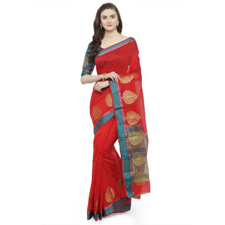 cbe363cfe2 Buy Kvsfab Red & Teal Color Cotton Silk Saree Online - Get 65% Off
